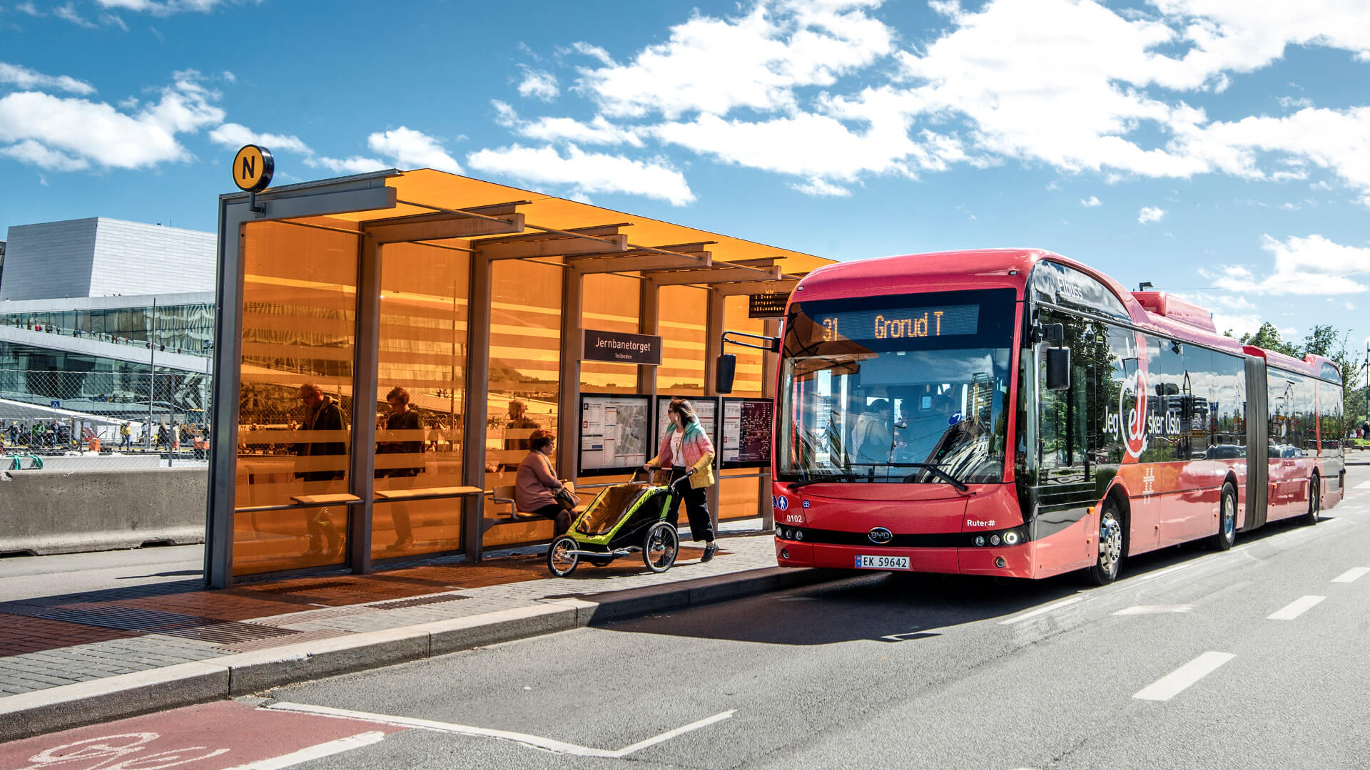 Reference BYD bus in Oslo